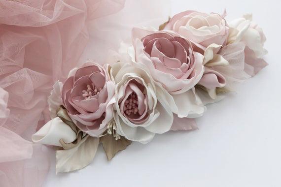 cinturon de faja con flores