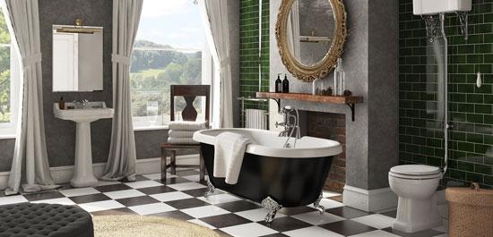 Baño con estilo retro