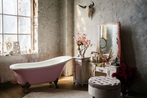 Crear un baño con estilo retro